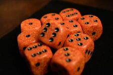 Speckled 16mm D6 RPG Chessex Dice (10 Dice) Fire Speckled Dark Orange and Yellow
