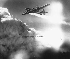 "B-29 Superfortress trails smoke & fire over Japan 8""x 10"" World War II Photo 254"