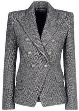 BALMAIN DOUBLE BREASTED CHECKED TWEED BLAZER FR 38 UK 10