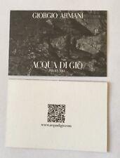 Carte parfumée Aqua De Gio Profumo de Giorgio Armani