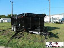 82 x 14 14' Dump Construction Equipment Bobcat Roofing Utility Cargo Tailers DFW