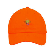 Pink Flamingo And Sunset Embroidered SOFT UNSTRUCTURED Hat Baseball Cap