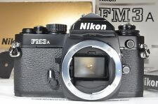 Nikon FM3A 35mm Film Camera Black in boxed From Japan #a0781 Near MINT