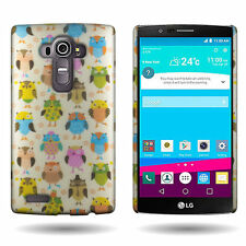 Hard Phone Case for LG G4 - Fancy Owls Design Slim Fit Back Cover