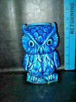Vtg INARCO INDIGO BLUE MOOD OWL CANDLE HOLDER - E4612 - Candleholder - RARE