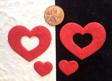20 Hearts heart red Handmade mulberry paper valentines crafts Scrapbooking Cards