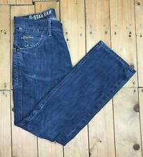Men's Blue Wash G-Star Raw Jeans W33 L31 Men Jack Pant Straight Loose GS A/B