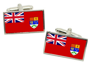 Canadian Red Ensign Canada (pre 1965) Flag Cufflinks in Chrome Gift Box