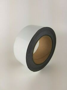 Magnetic Easy Wipe Rack Labeling Write On Tape White Gloss 24mm And 50mm Wide