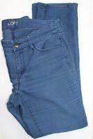 Ann Taylor  LOFT Women's Corduroy Jeans Sz 28/6 Modern Straight Dark Teal Blue
