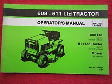 1985 DEUTZ ALLIS 608 LTD & 611 LTD LAWN & GARDEN TRACTOR OPERATORS MANUAL