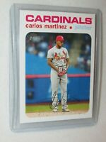 Carlos Martinez * 2020 Topps Heritage * High Number SP White Border * #'d to 50