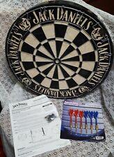Jack Daniels Old No. 7 Bristle Dartboard & Darts- NEW! Tennessee Whiskey
