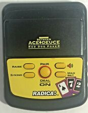 Used Radica Electronic Handheld Between Ace Deuce Red Dog Poker Game Working