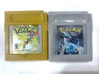 Pokemon: Gold & Silver Version NINTENDO GAMEBOY Color w/ New Save Battery!