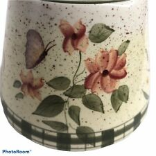Home Interiors Wildflower Large Jar Topper Shade Ceramic Floral Green Pink