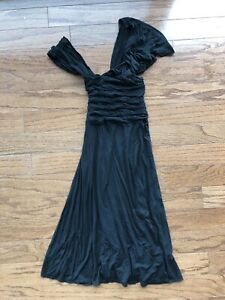 Anthropologie Tracy Reese Off Shoulder Asymmetric Cocktail Dress - BLACK - Small
