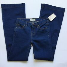 Free People Women's Jeans Straight Flare Medium Blue Wash Pants Size 26