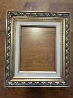 Gorgeous Vintage Ornate Baroque Gold Wood Gesso Picture Frame Holds 8x10