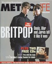 OASIS - LIAM & NOEL GALLAGHER - Vintage British METROLIFE Magazine Feb 2003 C#2