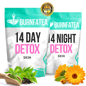 BURNFATEA 14 DAY DETOX TEA FOR CLEAR SKIN & WEIGHT LOSS, ACNE, ANTI-AGEING