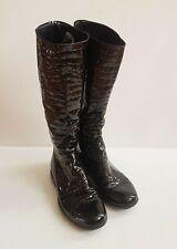 Prada Lackleder Stiefel, Schwarz, Größe: 38,5 (fallen wie 40 aus) UVP 490,- Euro