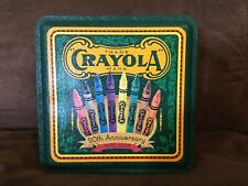 Vintage 1993 90th Anniversary Crayola Collector's Tin with Box of 64 Crayons