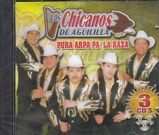 Los Chicanos De Aguililla Pura Arpa Pa La Raza  3CD New Sealed