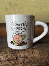 COFFEE Mug Navy ZIGGY Designers Collection Tom Wilson DOWN THE HATCH 1982