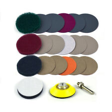 2-Inch Headlight Polishing Scouring Pad Restoration DIY Kit For Electric Drill
