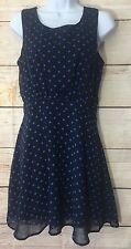 Forever 21 Blue Polka Dot Size Medium Short Cocktail Party Dress New With Tags