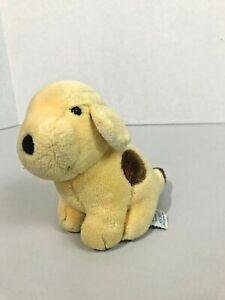 """vtg Eden Toys Spot The Puppy Dog Rare 6"""" Plush Toy 1993 Sitting Dog 5 1990s"""