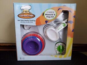 Curious Chef Kids Baking Set 17 Piece Measure & Prep Kit Real Kitchen Tools