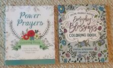 Lot Of 2 New Power Prayers, Blessings Christian Adult Coloring Books BN Grown Up