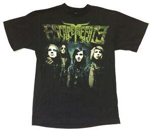 Escape The Fate Massacre Band Image 2010 Tour Black T Shirt New Official