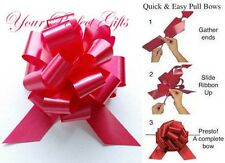 """20 PULL BOWS PER COLOR 5"""" BASKET PARTY BALLOON GIFT DECORATIONS WEDDING PEW CAKE"""