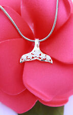 Hawaiian 925 Sterling Silver Jewelry Hawaii Whale Tail Pendant Necklace #SP30901
