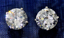 4ct tw Earrings Brilliant Top Russian Quality CZ Moissanite Simulant Silver
