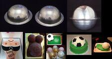 """Novelty Baking Tins - Round Ball Tins 10"""" - 5"""" Deep ( 2 Pcs - 1 Pairs )"""