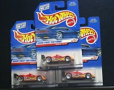 3 NEW HOT WHEELS 2000 FIRST EDITIONS FERRARI 333 SP 071 RED 17 LACE 11/36 FLAMES