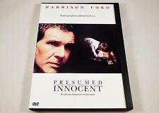 Presumed Innocent DVD Harrison Ford, Brian Dennehy, Raúl Juliá, Bonnie Bedelia