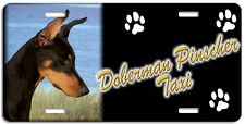 Doberman Pinscher blk & tan Taxi Line License Plate ( Low Clearance Price )