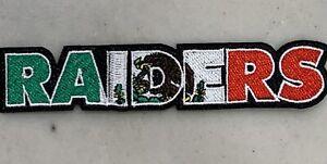 OAKLAND RAIDERS NFL Mexico Logo Raider Nation Football Iron-on PATCH! PREMIUM