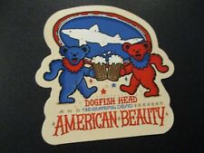 Dogfish Head American Beauty Grateful Dead Sticker decal craft beer dog fish Ipa