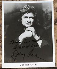 Johnny Cash Autographed Signed 8x10 W/ Unique Inscription & Coa 100% Authentic