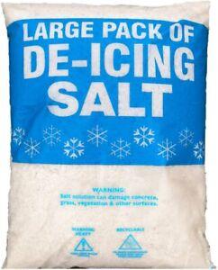 WHITE ROCK SALT DEICING | 25KG | Snow Frost Driveways Pavements Ice Melt Deicer