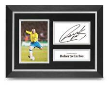 Roberto Carlos Signed A4 Framed Photo Display Brazil Autograph Memorabilia