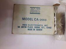 RMS MODEL CA-2003 3-WAY STAINLESS STEEL HYBRID SPLITTER 5-550MHZ