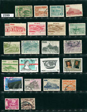 2399/2400-Peru-selection of 44 used/Mnh stamps in mixed condition-various years