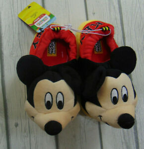 Disney Mickey Mouse Slippers Size 9-10 New Boys Toddler